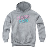 Happy Days Distressed Youth Pullover Hoodie Sweatshirt Heather