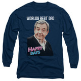 Happy Days Best Dad Adult Long Sleeve T-Shirt Navy