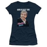 Happy Days Best Dad Junior Women's T-Shirt Navy