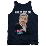 Happy Days Best Dad Adult Tank Top T-Shirt Navy