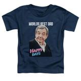 Happy Days Best Dad Toddler T-Shirt Navy