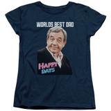 Happy Days Best Dad Women's T-Shirt Navy
