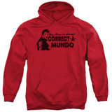 Happy Days Correct A Mundo Adult Pullover Hoodie Sweatshirt Red