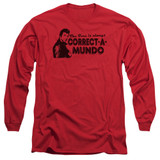 Happy Days Correct A Mundo Adult Long Sleeve T-Shirt Red