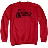 Happy Days Correct A Mundo Adult Crewneck Sweatshirt Red