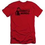 Happy Days Correct A Mundo Premium Canvas Adult Slim Fit 30/1 T-Shirt Red