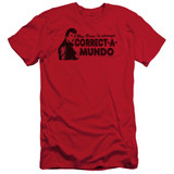 Happy Days Correct A Mundo Adult 30/1 T-Shirt Red