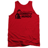 Happy Days Correct A Mundo Adult Tank Top T-Shirt Red