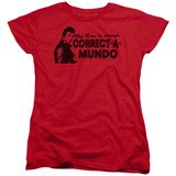 Happy Days Correct A Mundo Women's T-Shirt Red