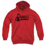 Happy Days Correct A Mundo Youth Pullover Hoodie Sweatshirt Red