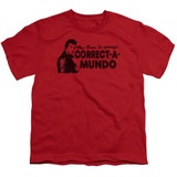 Happy Days Correct A Mundo Youth T-Shirt Red