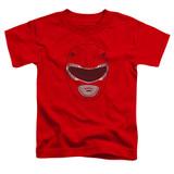 Power Rangers Red Ranger Mask Toddler T-Shirt Red