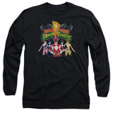 Power Rangers Rangers Unite Adult Long Sleeve T-Shirt Black
