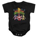 Power Rangers Rangers Unite Baby Onesie T-Shirt Black
