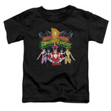 Power Rangers Rangers Unite Toddler T-Shirt Black