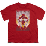 Power Rangers Red Deco Youth T-Shirt Red