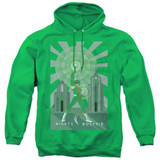 Power Rangers Green Ranger Deco Adult Pullover Hoodie Sweatshirt Kelly Green