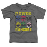 Power Rangers Ranger Heads Toddler T-Shirt Charcoal