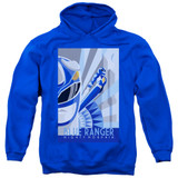 Power Rangers Blue Ranger Deco Adult Pullover Hoodie Sweatshirt Royal Blue