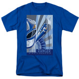Power Rangers Blue Ranger Deco Adult 18/1 T-Shirt Royal Blue