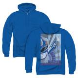 Power Rangers Blue Ranger Deco (Back Print) Adult Zipper Hoodie Sweatshirt Royal Blue