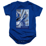 Power Rangers Blue Ranger Deco Baby Onesie T-Shirt Royal Blue
