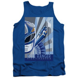 Power Rangers Blue Ranger Deco Adult Tank Top T-Shirt Royal Blue