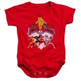Power Rangers Retro Rangers Baby Onesie T-Shirt Red