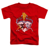 Power Rangers Retro Rangers Toddler T-Shirt Red