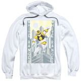 Power Rangers White Ranger Deco Adult Pullover Hoodie Sweatshirt White
