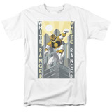 Power Rangers White Ranger Deco Adult 18/1 T-Shirt White