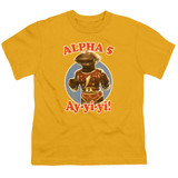 Power Rangers Alpha 5 Youth T-Shirt Gold