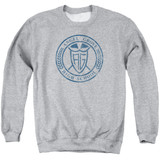 Power Rangers Angel Grove HS Adult Crewneck Sweatshirt Athletic Heather