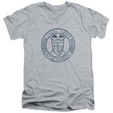 Power Rangers Angel Grove HS Adult V-Neck T-Shirt Athletic Heather