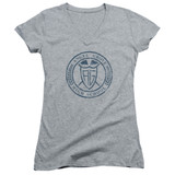 Power Rangers Angel Grove HS Junior Women's V-Neck T-Shirt Athletic Heather