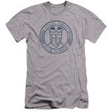 Power Rangers Angel Grove HS Premium Canvas Adult Slim Fit 30/1 T-Shirt Athletic Heather