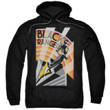 Power Rangers Black Ranger Deco Adult Pullover Hoodie Sweatshirt Black