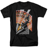 Power Rangers Black Ranger Deco Adult 18/1 T-Shirt Black