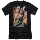 Power Rangers Black Ranger Deco Adult 30/1 T-Shirt Black