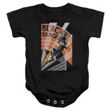 Power Rangers Black Ranger Deco Baby Onesie T-Shirt Black