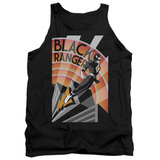 Power Rangers Black Ranger Deco Adult Tank Top T-Shirt Black