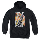 Power Rangers Black Ranger Deco Youth Pullover Hoodie Sweatshirt Black