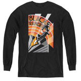 Power Rangers Black Ranger Deco Youth Long Sleeve T-Shirt Black