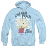 Family Guy And Such Adult Pullover Hoodie Sweatshirt Light Blue