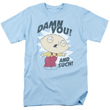 Family Guy And Such Adult 18/1 T-Shirt Light Blue