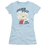 Family Guy And Such Junior Women's Sheer T-Shirt Light Blue