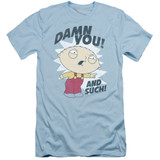 Family Guy And Such Adult 30/1 T-Shirt Light Blue