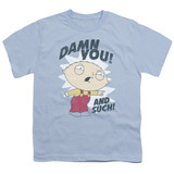 Family Guy And Such Youth T-Shirt Light Blue