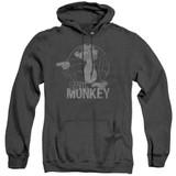 Family Guy Evil Monkey Adult Heather Hoodie Sweatshirt Black
