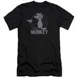 Family Guy Evil Monkey Premium Canvas Adult Slim Fit T-Shirt Black